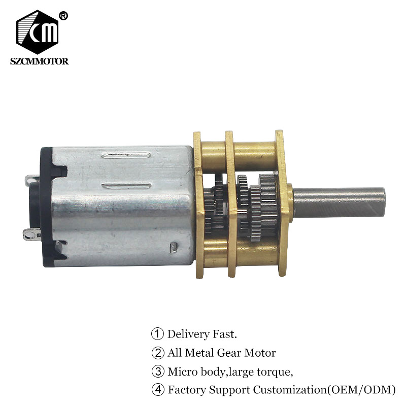 Rated Voltage 12VDC No-load Speed 30 to 6000 RPM Micro <font><b>Gear</b></font> Motor <font><b>N20</b></font> Mini Geared Motor DIY Robot micro <font><b>metal</b></font> gearmotor image