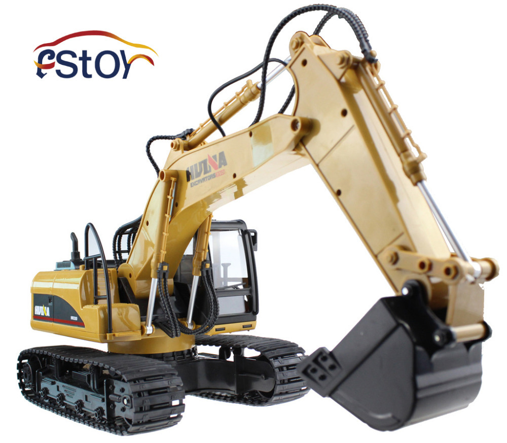 ФОТО RC Excavator 15CH 2.4G Remote Control Constructing Truck Crawler Digger Model Electronic Engineering Truck Toy