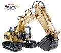 Rc escavadeira 15CH 2.4 G controle remoto construindo esteira Truck escavadeira eletrônico modelo de brinquedo caminhão de engenharia