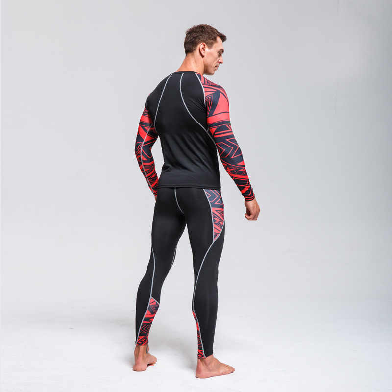 Inverno roupa interior Térmica> compressão dos homens roupa de esqui conjunto> Wicking Collants de Fitness Jogging Esportes Quente> camada de Base terno 4XL