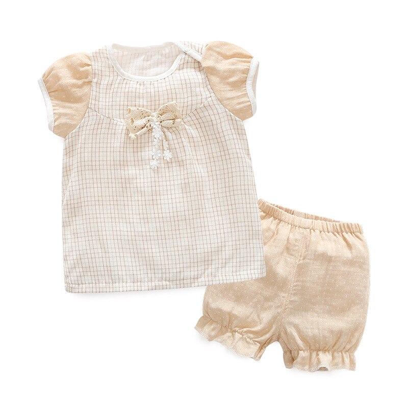 New Organic Cotton Cotton summer Baby Clothing Set  short tshirt+Pants  2 pieces Infant Newborn Girl y Clothes Sets  Suit simba organic cotton baby pillow