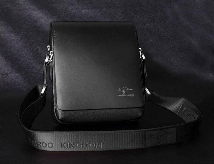 2014 Sale Cover Handbags Bolsas Femininas New Men's Authentic Kangaroo Kingdom Leather/pu Shoulder Bag Messenger Black/brown - Fashiongo store