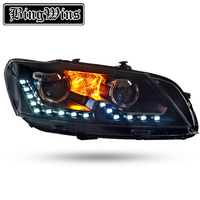 Car light for VW Volkswagen Passat B7 Headlight 2011 2015 Headlights LED Headlamp Bi Xenon High Low Beam DRL Head Lamp Front LF