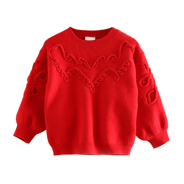 1 2 3 4 5 6 7 8 Years Age Little Girls Red Sweater Spring Autumn ...