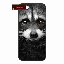 Yago Portal Raccoon Art Print Cover case for iphone 4 4s 5 5s 5c 6 6s plus samsung galaxy S3 S4 mini S5 S6 Note 2 3 4   zw0344