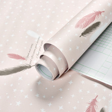 60CMx1M Lovely Cartoon Self Adhesive Wallpaper Roll Warm and Sweet Wallpaper for Kids Room Pink and Blue Waterproof PVC Sticker