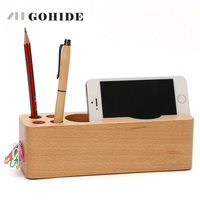 Mobile Phone Holder A Wooden Fashionable Multifunctional Stationery A Mobile Phone Rack A Desktop Office