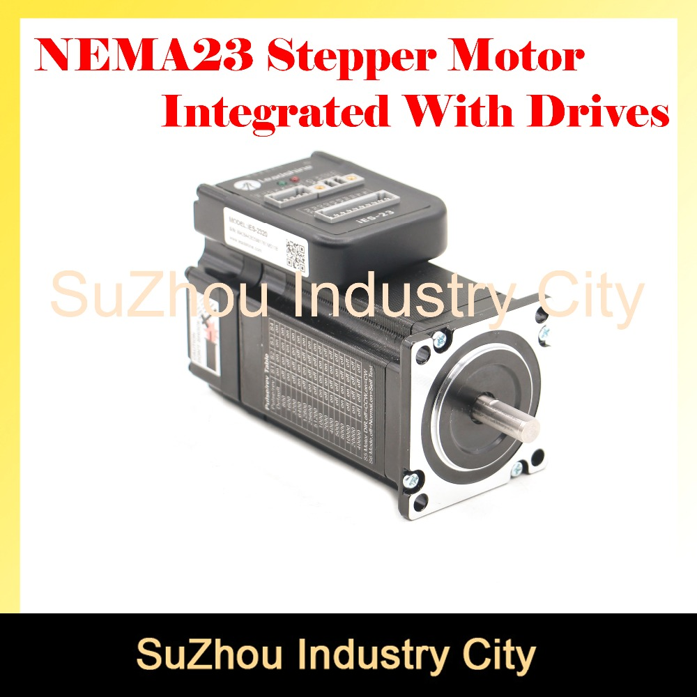 CNC NEMA 23 Integrated Stepper Motor with driver DIP switches 57 HS stepper motor with low heating and noise for CNC machine ! new nema 23 stepper motor driver m542 dsp work 24v 50vdc output 1 0a 4 2a current dsp design low noise precision low costs