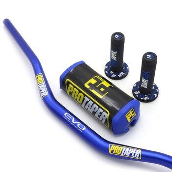 Manillar de 1-1/8 pulgadas con almohadillas de barra empuñaduras profesionales para MOTO KTM CRF KLX Dirt Pit Bike ATV Quad Racing Bike