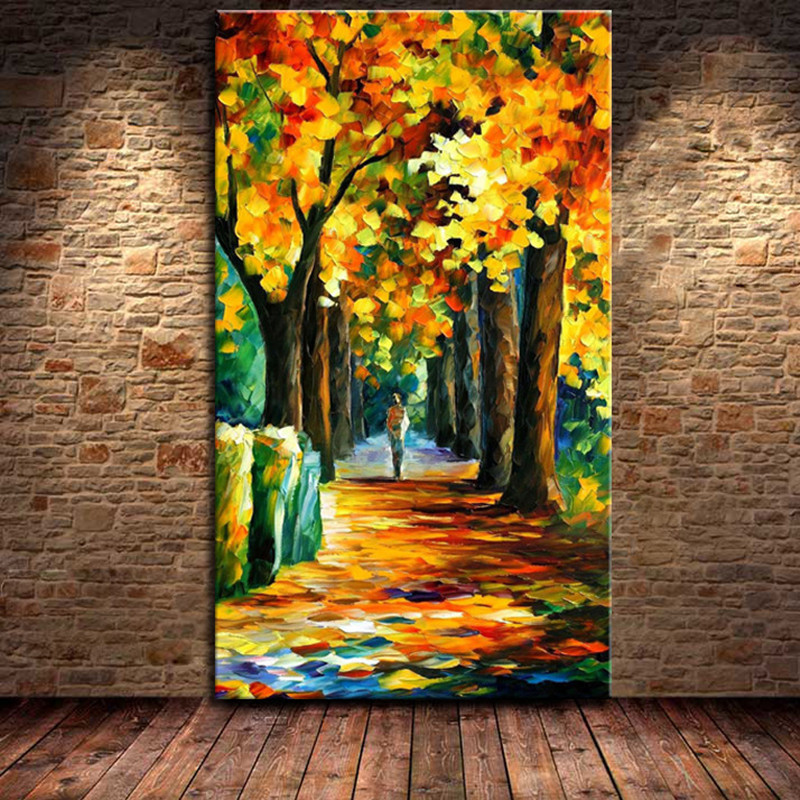 Natural scenery oil painting tree scene landscape picture for Nature decor
