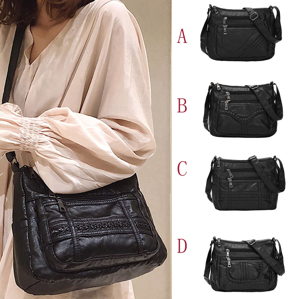 New Women's Fashion Messenger Bag Black Messenger Bag Shoulder Bag Casual Wild In Women Totes