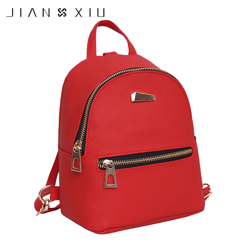 JIANXIU Women's Backpacks for Teenage Girls Schoolbag Backpack Fashion Mini Bag Preppy School Style PU Leather Rucksack mochila 2017 fashion women pu leather backpack preppy style rucksack schoolbag for teenage girls lady shoulder backpack mini machilas