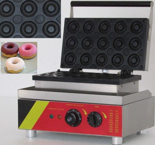 110 В/220 В электрические 15 шт. коммерческих пончик машина для продажи ...