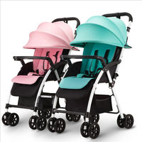Light Portable Folding Separable Baby Twins Strollers Lying and Sit Baby Twins Carriage Mix Colors Prams for Twins Boy and Girl
