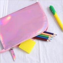 b769cca2b 1 PC de embrague maquillaje brillante bolso holográfico holograma láser  bolso borla bolso de las mujeres bolsa de PVC neceser de.