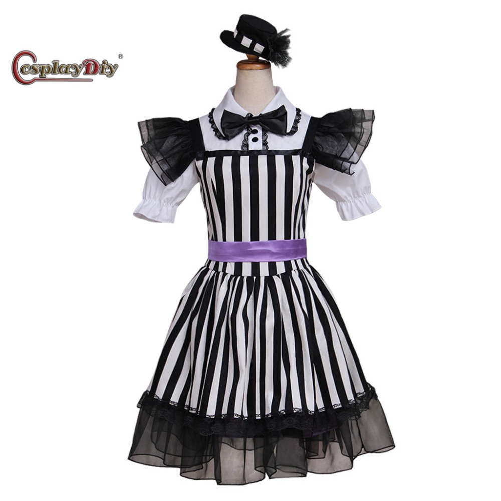 Cosplaydiy Momoiro Clover Black Dress Stage Performance Costume Adult Women Halloween Carnival Cosplay Clothes Custom Made J5