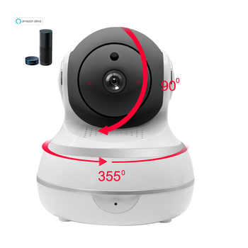 1080P IP Camera Wireless WiFi Network Security Camera Auto Tracking Smart Life Compatible with Alexa Echo Show Google Home