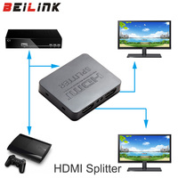 HDCP 4K HDMI Splitter Full HD 1080p Video HDMI Switch Switcher 1X2 Split 1 In 2