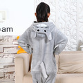Fotografia Do Miúdo Das Meninas Dos Meninos Party Roupas Pijamas Pijamas de Flanela Criança Com Capuz Pijamas Pijamas Dos Desenhos Animados de Animais Totoro Cosplay