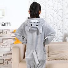 Photography Kid Boys Girls Party Clothes Pijamas Flannel Pajamas Child Pyjamas Hooded Sleepwear Cartoon Animal Totoro Cosplay