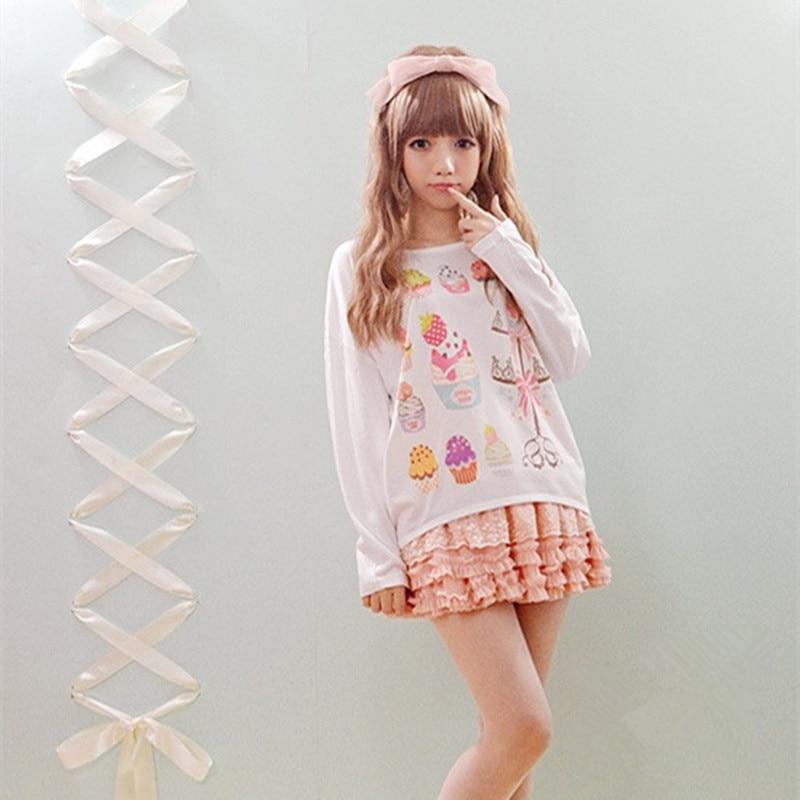 5 Pattern Ayumi Girls Full Sleeve T Shirt Fashion Cute Harajuku T Shirts Japanese Style
