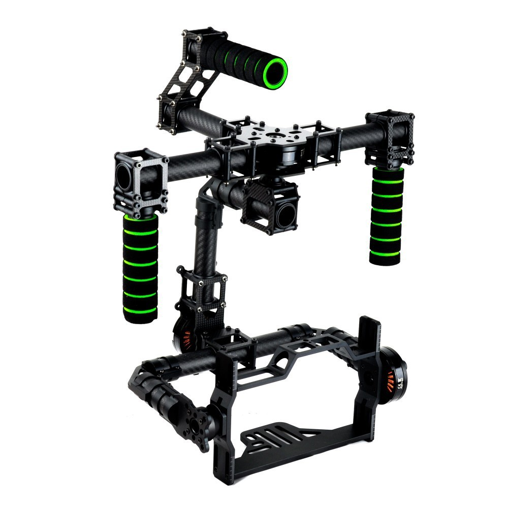 3 Axis DSLR Brushless Gimbal Glass Fiber Handle Camera Mount DSLR 5D GH3 For FV Photography Without Motor