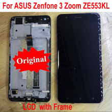 Original Best Working Sensor LCD Display Touch Panel Screen Digitizer Assembly with Frame For Asus ZenFone 3 Zoom ZE553KL Z01HD