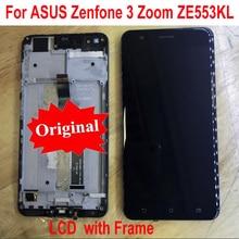 Original การทำงานที่ดีที่สุด Sensor จอแสดงผล LCD หน้าจอสัมผัส Digitizer ประกอบกับกรอบสำหรับ Asus ZenFone 3 Zoom ZE553KL Z01HD