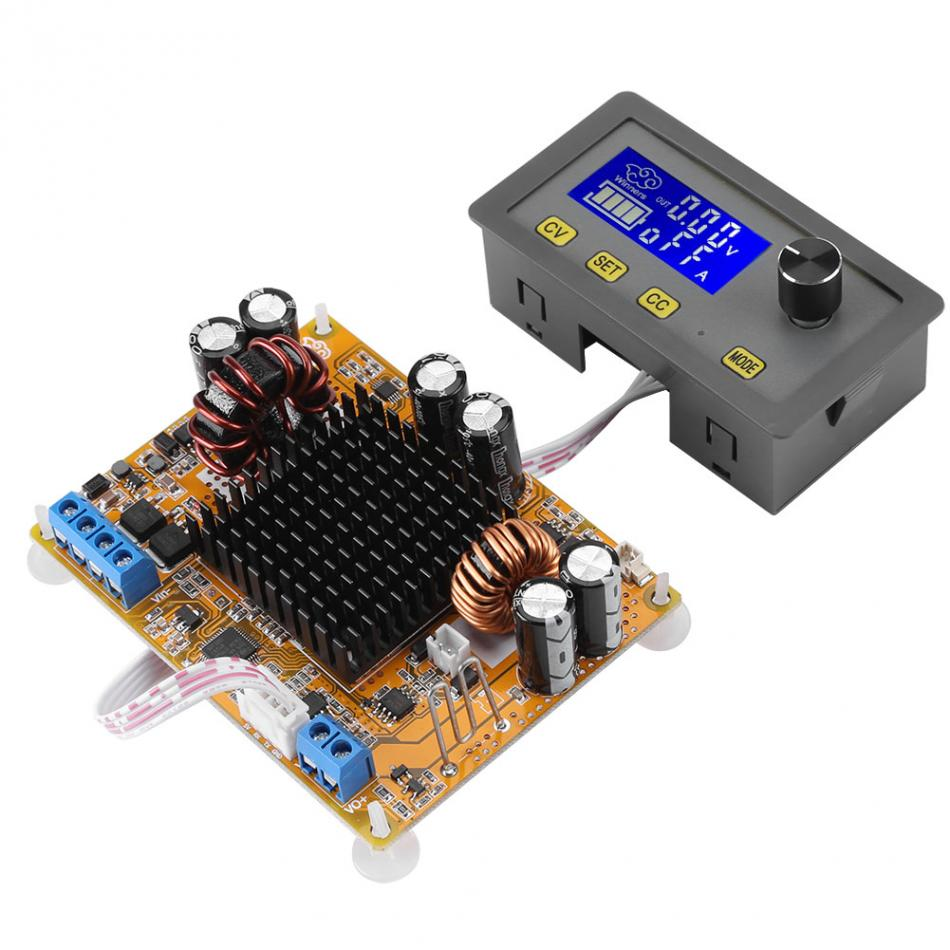 DC-to-DC Power Converter Adjustable Power Supply Module 5A Boost Module LCD Digital Automatic Step-up Step-down Voltage Module wholesale 1pcs dc dc step up converter boost 2a power supply module in 2v 24v to out 5v 28v adjustable regulator board dropship