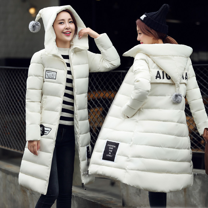 ФОТО freepp women's cotton-padded jacket 2016 newest winter thicken long slim down parka high quality plus size female coat M-3XL