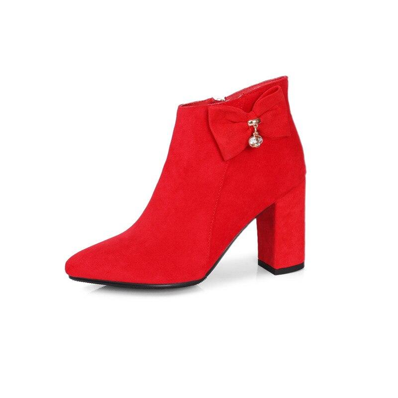 Mariage 5 Femmes Chaussures Marque Noeud Bottes 2018 En Suédé Cuir Pointu Papillon 6 Memunia Cheville Noir Cm Nouvelle De rouge Bout Avec Arrivée Klc1J3TFu