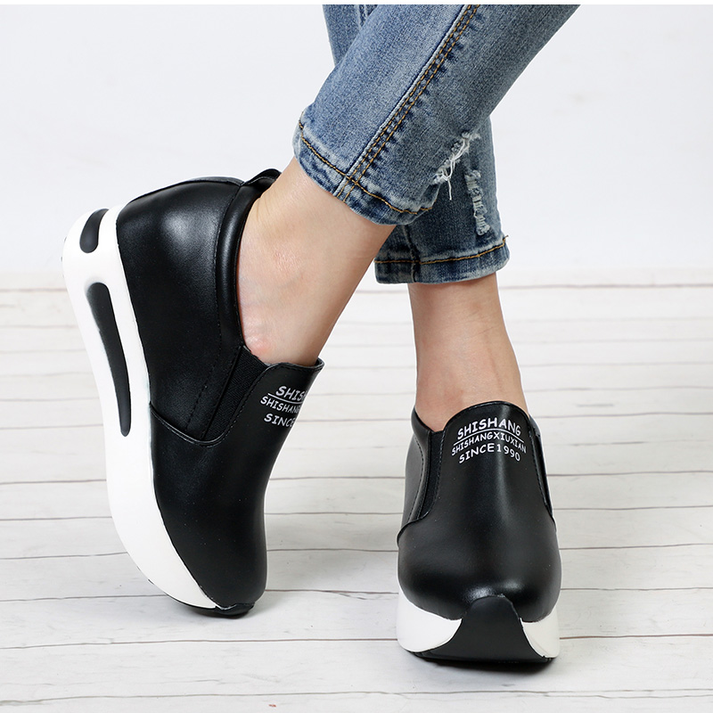 MCCKLE Women Creepers Spring Height Casual Platform Heel