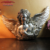 Direct Sales New Arrival Home Accessories Angel Wall Pendant Resin Craft Factory Direct Sales sculpture statue home decor