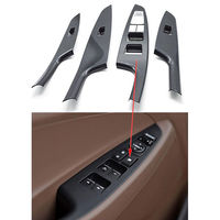 4pcs Set Auto Carbon Fiber Style Interior Door Handle Cover Armrest Decoration Trim For Hyundai Tucson