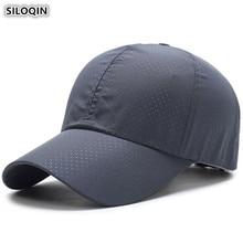 SILOQIN Adult Womens Adjustable Size Thin Baseball Caps Summer Mens Breathable Tongue Cap Sunscreen Snapback For Men Women