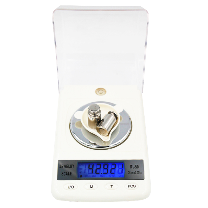 50g 0.001g High Precision Digital Electronic Jewelry Scales Diamond Gem Carat balance Counting Function Portable  15%off 50g 0 001g precision digital jewelry gem powder scales electronic diamond milligram scale bench weighing balance free shipping