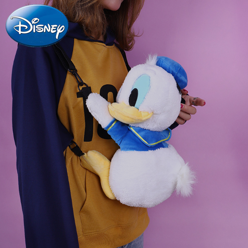 Disney 2019 New Kids Cute Mini Donald Duck Backpacks Cartoon Children Plush Backpack Toy School Bag Gifts Boy Girl Student Bags