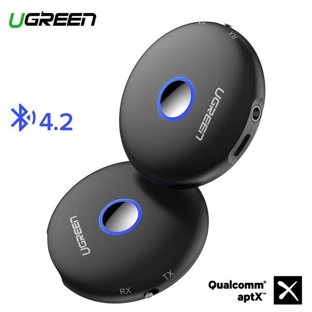 Ugreen Bluetooth 4,2 передатчик приемник aptX адаптер 3,5 мм разъем аудио для наушники для телевизора PC музыкальный рецептор AUX Bluetooth 3,5 мм