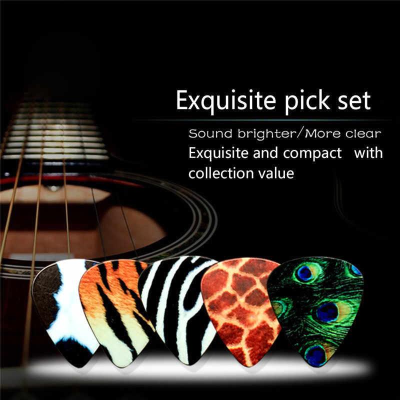 5 sztuk kostki do gitary 0.46 0.71mm akustyczna elektryczna gitara basowa kostki do gitary standardowy Guitarra celuloid Plectrum akcesoria