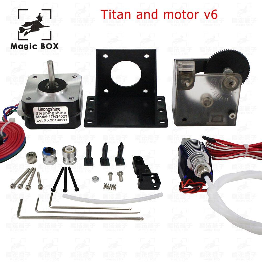 3d imprimante pièces titan Extrudeuse Kit Complet avec NEMA 17 Moteur pas à pas soutenir à la fois à Entraînement Direct et Bowden support De Montage
