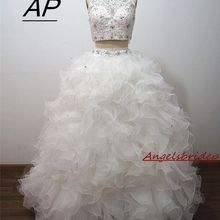 Ball-Gown Quinceanera-Dress Beading Crystal ANGELSBRIDEP Two-Piece Formal 15-Years Sleeveless
