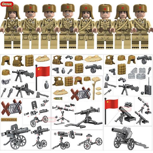 Oenux новая мировая война 2 корейский военный строительный блок WW2 Китайский народный Leberation армии фигуры кирпичные MOC игрушки для детей