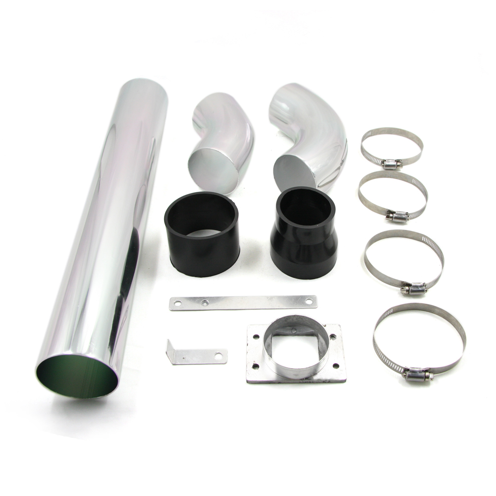 Universal Aluminum Car Air Intakes Tube Multiple Combined High flow Air Intake Mounting kits 3 76mm