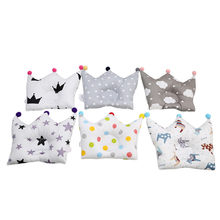 0-24 Month Baby Shaping Pillow Prevent Flat Head Infants Crown Dot Bedding Pillows Newborn Boy Girl Room Decoration Accessories(China)