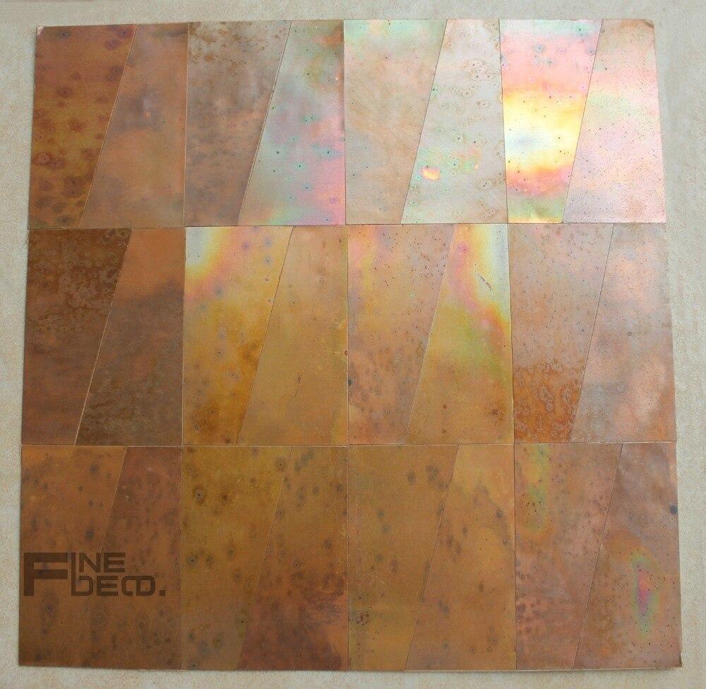 Antique Purple Bronze Color Copper Mosaic Tile For