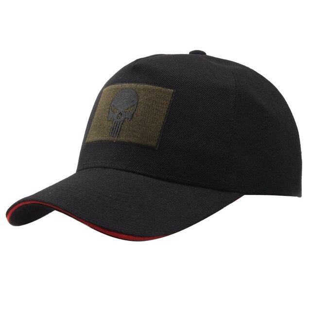 Nova Algodão Boné de Beisebol Tático Punisher Selos Americano Atirador Do Exército  Boné de Beisebol do 416854e6f4e
