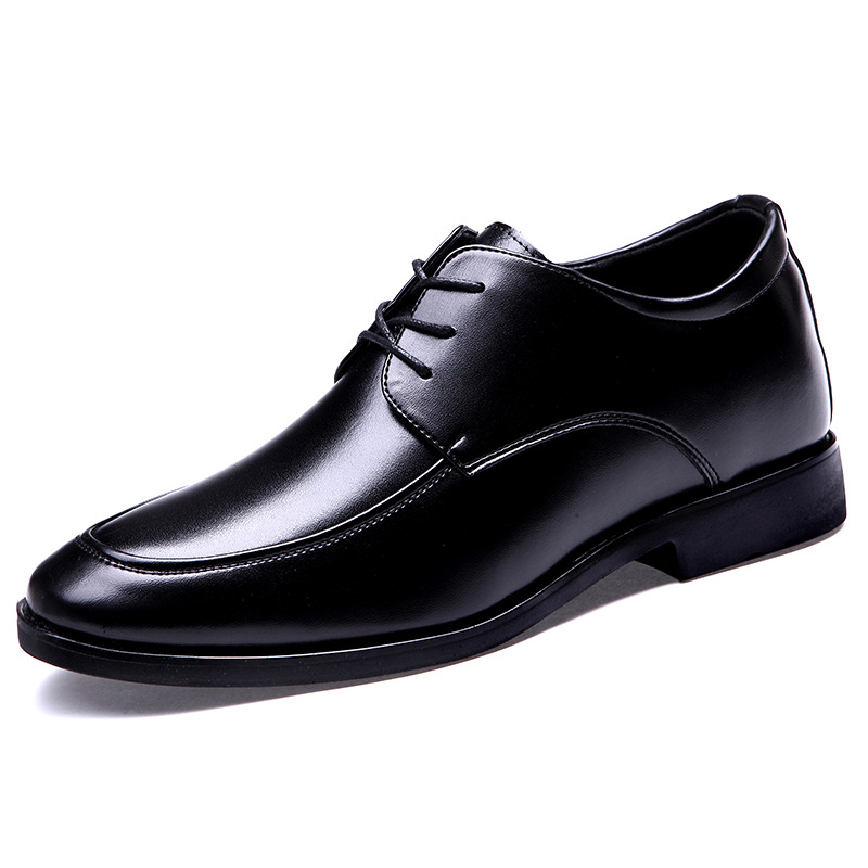 Men's Elevator Shoe Man Height Increasing Lace Up Genuine Leather Dress Formal Shoes