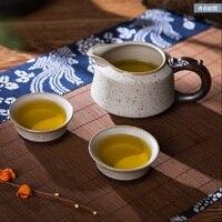 Jingdezhen Kung Fu ceramic tea set teapot family ice cracking Longquan retro simplified Chinese teapot