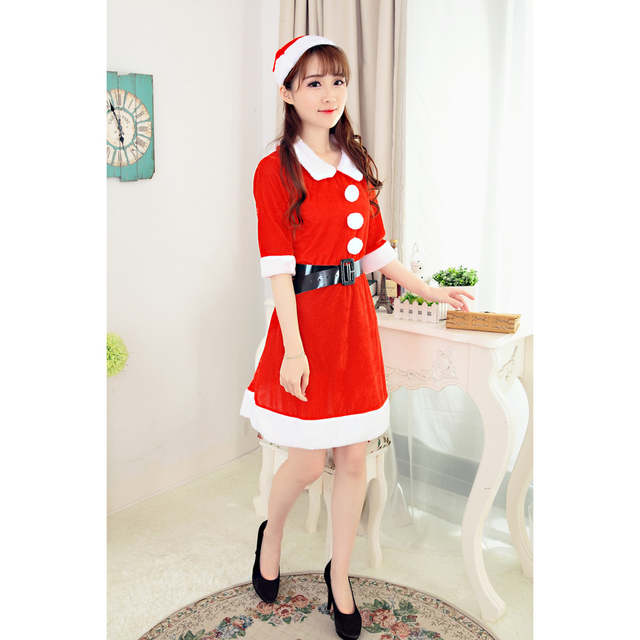 Online Shop 2017 Best Sale Women Sexy Santa Christmas Costume Fancy Dress  Xmas Office Party Outfit womens clothing party dresses ropa mujer  5cbd079d3b26