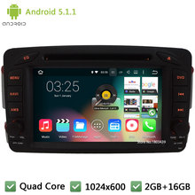 Quad core Android 5.1.1 1024*600 Car DVD Player Radio Audio Stereo Screen DAB+ For Benz Vaneo Viano Vito C-W203 A-W168 CLK-C209